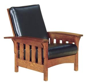 American Bow Arm Slat Mission Morris Lounge Chair