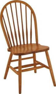 Amish Spindle Bow Back Windsor Chair
