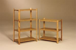 Amish Large Bookcase with Open Shelves