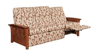 Slat Mission Recliner Sofa with Power Recline Sofa Option