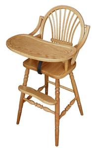 Amish Classic Sheaf Wooden High Chair