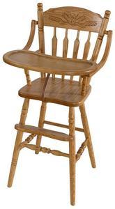Amish Farmhouse Wooden High Chair