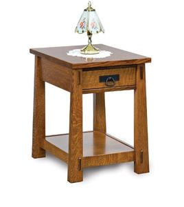 Amish Modesto Mission Open End Table with Drawer