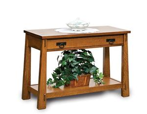 Amish Modesto Open Sofa Table with Drawer