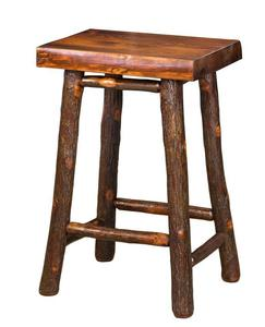 Amish Hickory Twig Bar Stool with Pine Seat