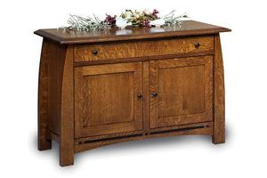 Amish Boulder Creek Mission Enclosed Sofa Table with Drawer and Doors