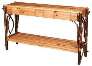 Amish Rustic Hickory Northwood Sofa Table