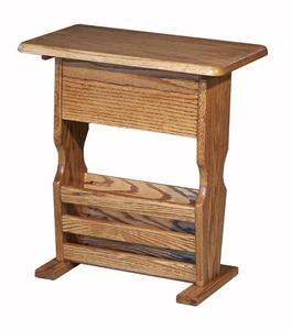 Amish Hardwood Small Magazine Stand with CD Storage