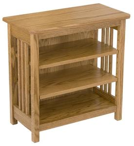 Amish Hardwood Mission Bookcase or End Table