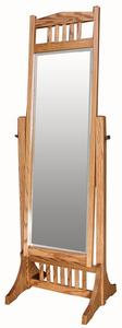 Amish Hardwood Mission Cheval Mirror