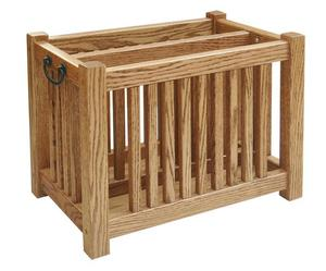 Amish Hardwood Mission Magazine Rack Deluxe