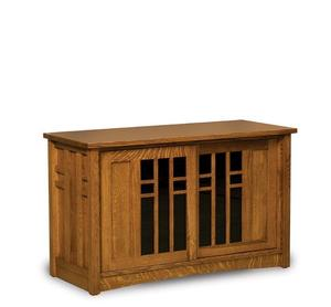 Amish Kascade Mission TV Stand with Two Doors
