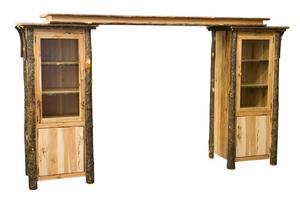 Amish Rustic Entertainment Center Wall Unit
