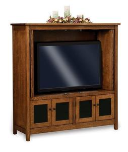 Amish Centennial Mission TV Cabinet with Stereo Area
