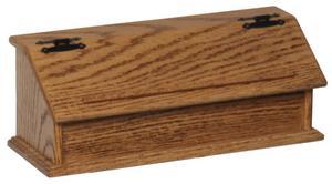 Amish Oak Wood Double Recipe Box