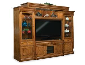 Amish Vienna Six Piece Entertainment Center Wall Unit