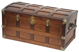 Amish Hardwood Steamer Trunk with Cedar Bottom