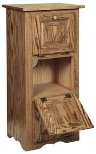 Amish Hardwood Veggie Bin with Three Doors