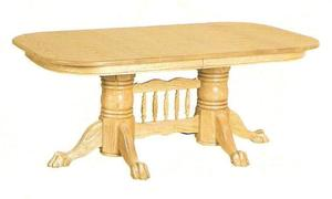 """Amish 72"""" Double Pedestal Newport Dining Table with Center"""