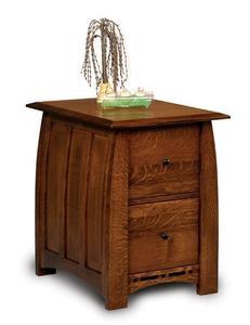 Amish Boulder Creek Two Drawers File Cabinet
