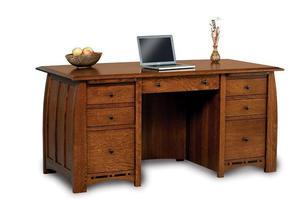 Amish Boulder Creek Executive Desk with Unfinished Back