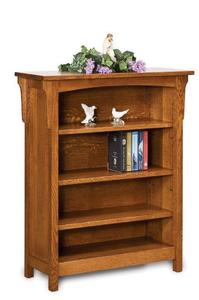 Amish Bridger Mission Bookcase with Three Shelves