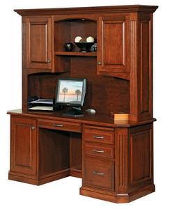 Amish Buckingham Credenza Desk with Optional Hutch Top