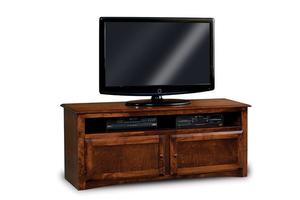 """Amish Durham Economy 60"""" TV Stand with Two Doors and Shelf"""