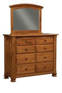 Amish Trenton Eight Drawer Dresser