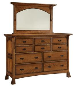 Amish Verona Dresser with Ten Drawers