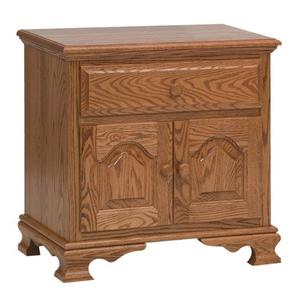 Amish Paxton Nightstand with Two Doors and Drawer