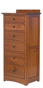 Amish Laramie Lingerie Chest with Six Drawers