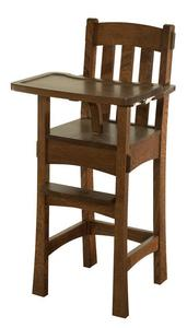 Amish Modesto Wooden High Chair