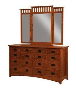 Amish Schwartz Mission Dresser with Ten Drawers