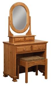Amish Paxton Dressing Table and Bench