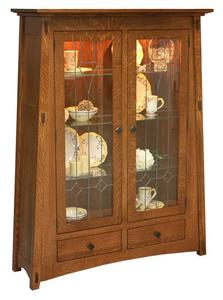 Amish McCoy Mission Curio Cabinet