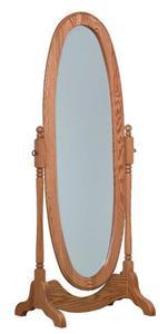 Amish Oval Cheval Floor Mirror