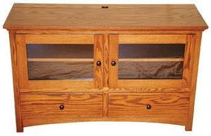 Two Drawer Modesto Mission Widescreen TV Console Stand