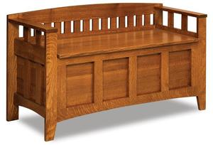 Amish Westfield Mission Storage Bench