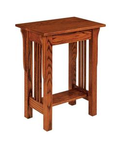 Amish Leah Mission Telephone End Table - Quick Ship