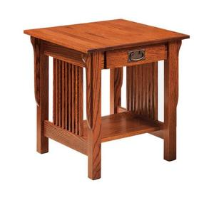Amish Leah Mission Large End Table - Quick Ship