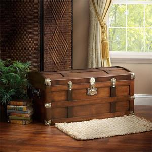 Amish Solid Maple Wood Steamer Trunk - Quick Ship