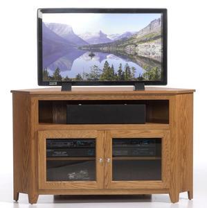Amish Economy Corner TV Stand - Quick Ship