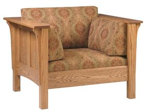 Amish Modern Shaker Lounge Chair