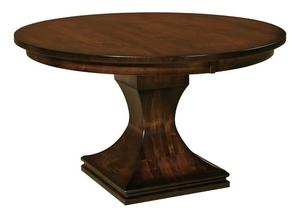 Amish Long Beach Single Pedestal Dining Table