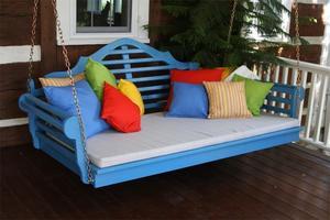 Amish Pine Wood Marlboro Swing Bed