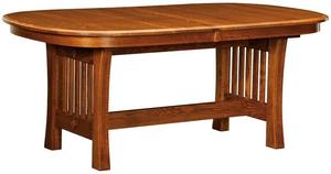 Amish Arts & Crafts Trestle Dining Table