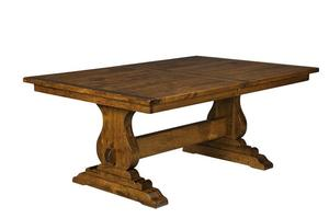 Austin Plank Top Trestle Dining Table
