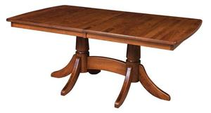 Amish Aurora Double Pedestal Dining Table