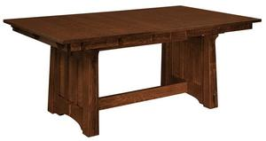 Amish Beaumont Mission Trestle Dining Table